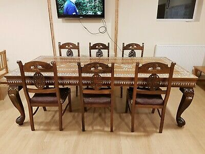 Dining Table And Chairs Early 20th Century Anglo Indian Design