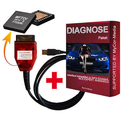 Diagnostic KDCAN Pro Interface for BMW INPA Rheingold ISTA NCS EXPERT + Software