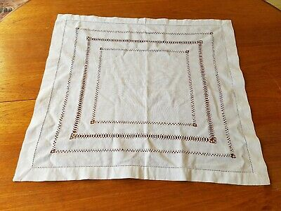 Vintage Handmade Table Mat Very  Pretty Decorative Cloth 62x57cm/ 24.5x22.5 inch