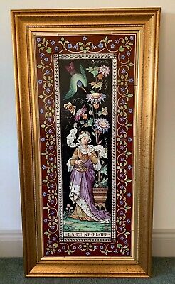 Large Stunning Original Antique Aesthetic Hand Painted MINTON Tile Panel HUGE!!