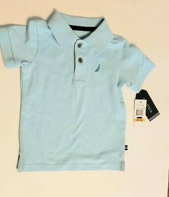 NWT Baby boy's Nautica Polo collared shirt size 12 months teal button up