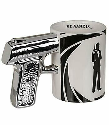 Stunning Secret Agent Mug My Name Is - Silver Pistol Handle
