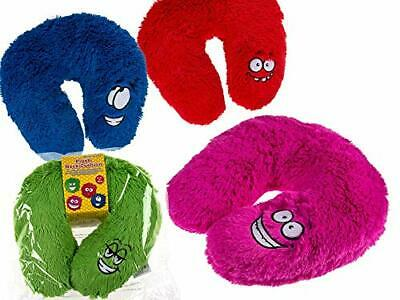 Fun Neck Cushion- Plush Neck Pillow With Cute Face - Perfect For Travels