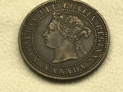 1881-H Canada One Cent Coin