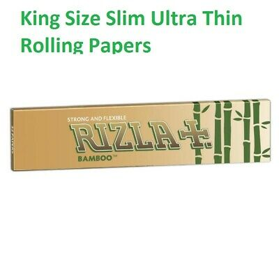 New Rizla BAMBOO King Size Slim Ultra Thin Rolling Papers  Pack of 1|3|5 |10