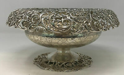 Henry Birks & Sons Reticulated Silver Bowl