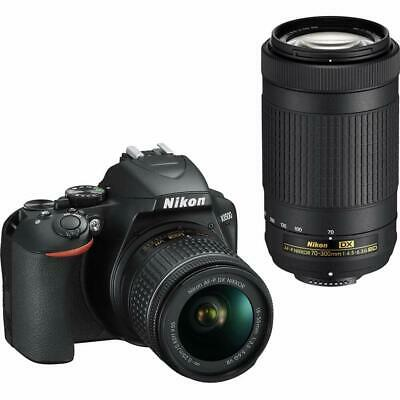 Nikon D3500 DSLR Camera with 18-55mm and 70-300mm Lenses - Black