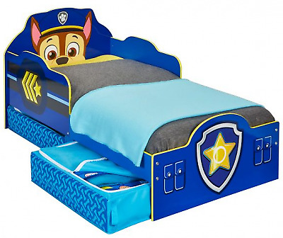 Paw Patrol Chase Toddler Bed with Storage Suitable for 18 months +