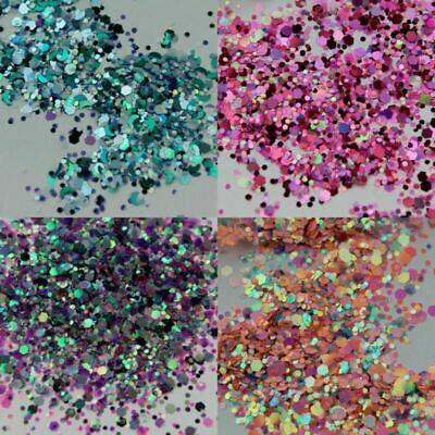 10g Chunky Mixed Glitter Face Body Tattoo Festival Party Cosmetic Nails