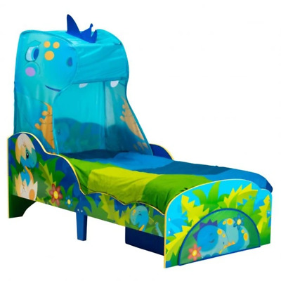 Dinosaur Toddler Bed with Canopy and Storage