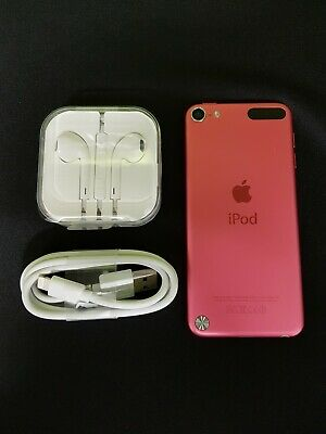 Genuine Apple iPod Touch - 5th Gen A1421 32 GB - Pink  Bundle Headphones & Cable