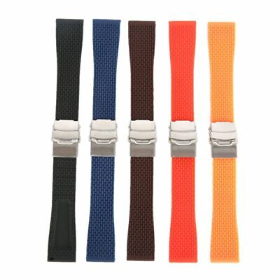 Width 18-24mm Silicone Rubber Wrist Watch Band Strap Replacement WatchStrap Belt