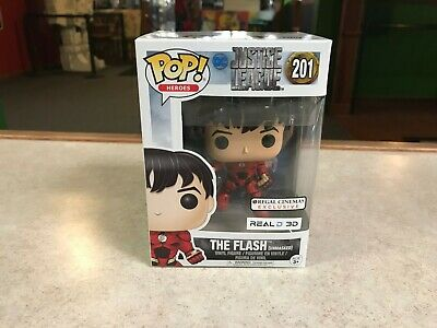 Funko POP! NIB DC Justice League Regal Cinemas THE FLASH UNMASKED #201