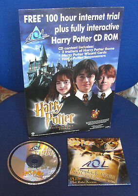 Very Rare - Harry Potter & the Philosopher's Stone - AOL Card Standee & CDRom