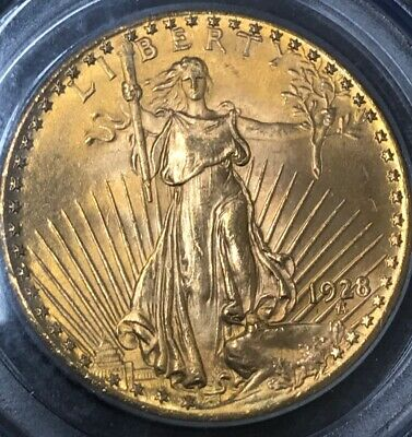 1928 $20 St. Gaudens Double Eagle Pcgs Ms65 Saint Ms-65 Gem Quality!