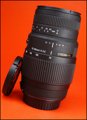 Sigma 70-300mm F4-5.6 DG MACRO AF Zoom Lens. Canon With Front & Rear Caps