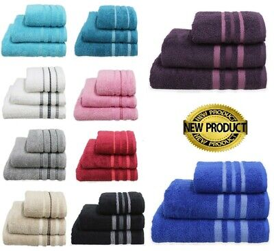 Ultra Soft 600GSM Combed Cotton Bath Towels Hand Towels Bath Sheet Pack of 2 & 3