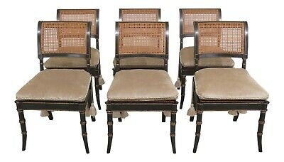 L31210EC: Set Of 6 ALFONSO MARINA Neoclassical Dining Room Chairs