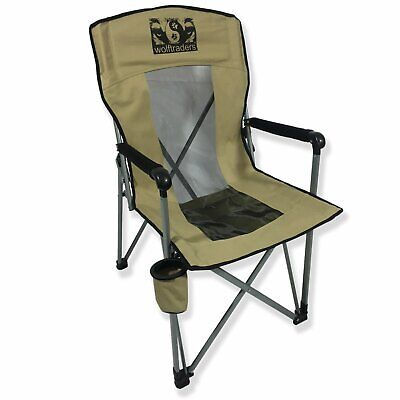 Wolftraders Chil'Bak Mesh High-Back Folding Camp Chair