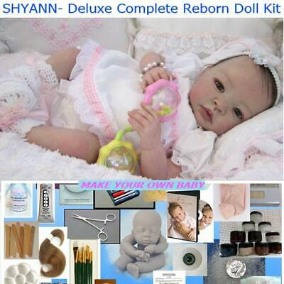 REBORN DOLL COMPLETE BEGINNER KIT Shyann Deluxe supply kit to make a Baby doll
