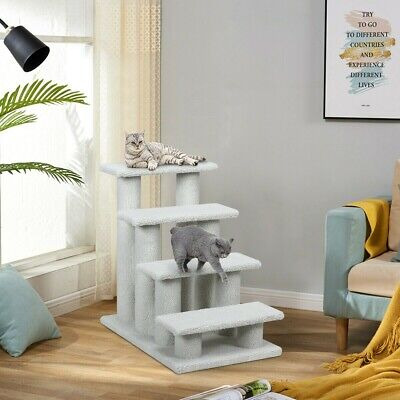 Pet Steps for Bed Dog Stairs Cat Tree 4 Step Portable Indoor Outdoor Ramp Ladder