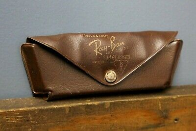 Vintage 1940s RAY-BAN AVIATOR SUNGLASSES CASE ONLY Brown Military Old Glasses