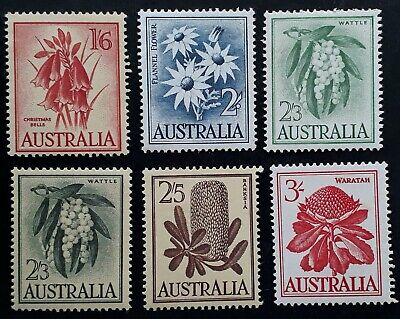 1959- Australia Set of Pre decimal Australian Native flower stamps Mint