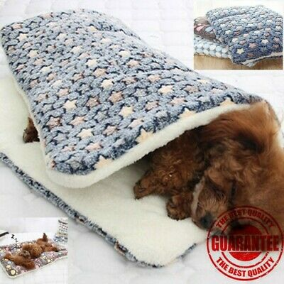 Dog Cat Puppy Pet Plush Blanket Mat Warm Sleeping Soft Bed Blankets Supplies CA
