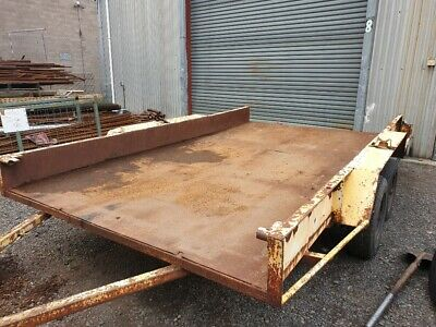 Used tandem car trailer 3.6 mtrs long x 2 mtrs wide inside diamater