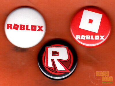 """Set of three 1"""" Roblox pins/buttons"""