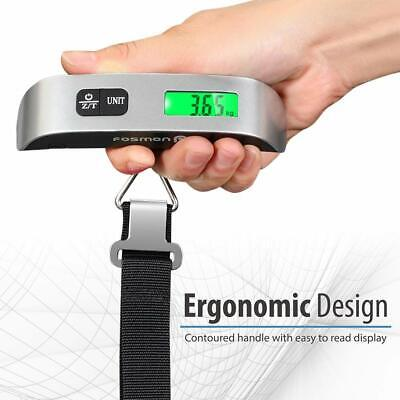 Portable 110lb / 50kg Travel LCD Digital Hanging Luggage Scale Electronic Weight