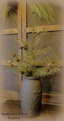 """Primitive Country Rough Texture Realistic Trunk 24"""" Cypress Pine Christmas Tree"""