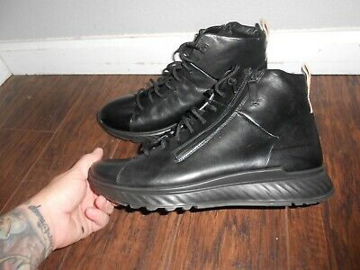 4bfe321431 ECCO ST1 HIGH Top Black Fashion Sneakers Shoes Men's Size 10.5 ...