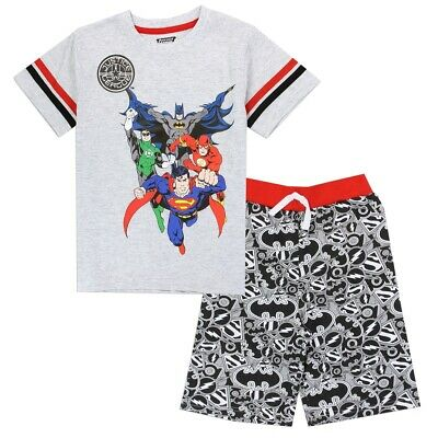 "Justice League Super Heroes Toddlers 2 Pc. Short Set ""brand New With Tags"""