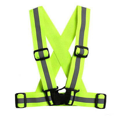 Cool Motorcycle Running Harness Clothes Adjustable Cycling Reflective Safe Vest