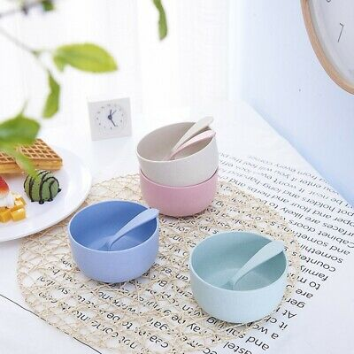 Baby Kids Feeding Utensils Mat Suction Table Food Tray Spoon Plate Bowl Dish HOT