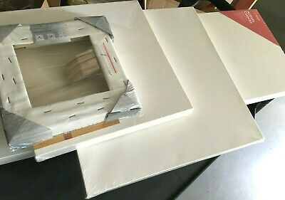THICK Artist Canvas Stretched Blank White Pure cotton wooden frame Painting NEW