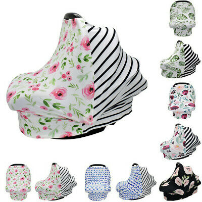 4 in 1 Stretchy Car Seat Canopy Cover Multi Use Baby Breastfeeding Nursing Cover