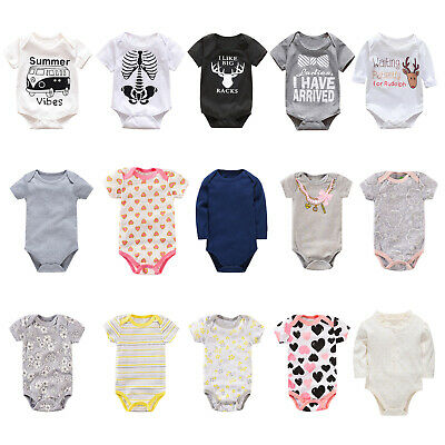 Newborn Infant Baby Boy Girl Kid Cotton Romper Bodysuit Jumpsuit Clothes Outfits