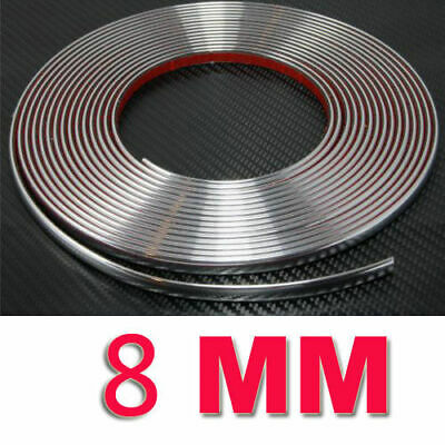 8mmx15m CHROME autocollant voiture garniture portière TUNING moulée BANDE HOT