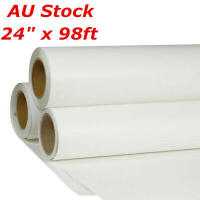 "AU 24"" x 98ft Roll White Color Printable Heat Transfer Vinyl For T-shirt Fabric"