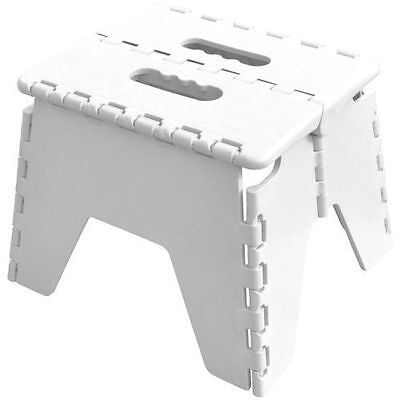Folding Handy Step Stool Kitchen Bathroom Storage Collapsible Multi Purpose New,