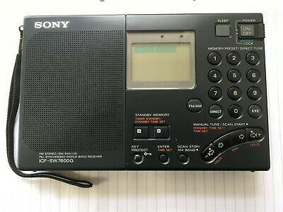 Sony World Band Shortwave Portable Radio Receiver Icf-Sw7600G