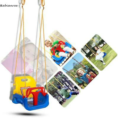Ancheer 3 In 1 Jungle Gym Full Swing Seat Heavy Duty Chain Playground Swing Set