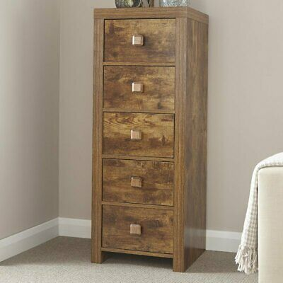 Rustic Tall Chest Of Drawers Mango Wood Vintage Antique Large Storage Space New