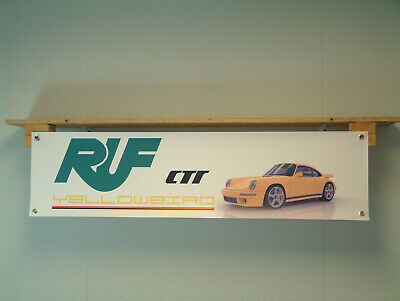 RUF Yellowbird Banner ctr Race Car Porsche 911 Carrera pvc poster