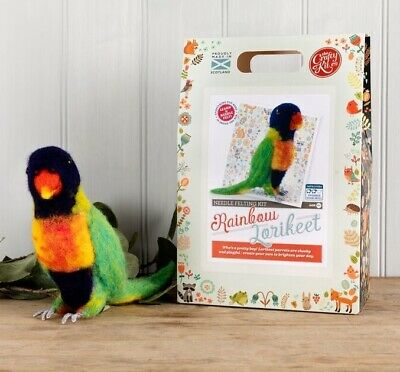Rainbow Lorikeet Needle Felting Kit by The Crafty Kit Company
