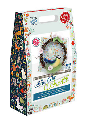 Spring Blue Tit Wreath Needle Felting Kit by The Crafty Kit Company