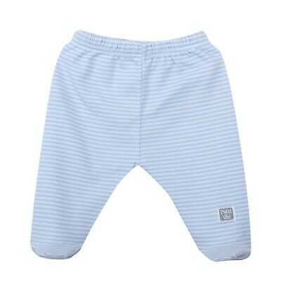 Petit Oh! Footed Pants Blue Stripes