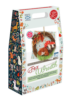 Autumn Fox Wreath Needle Felting Kit by The Crafty Kit Company